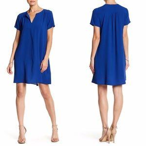 Lush | Blue Split Neck Swinging Shift Dress